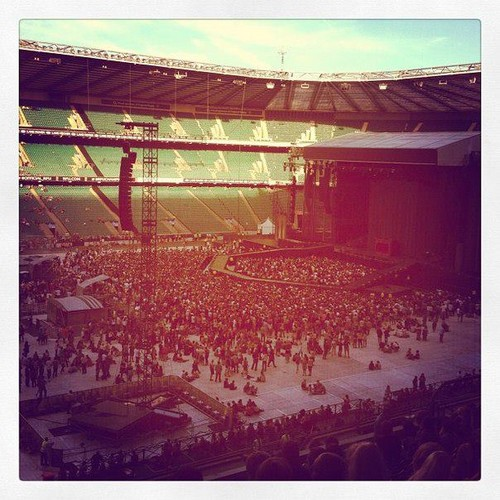 Twickenham Stadium getting ready for Gaga! (Sept. 8)
