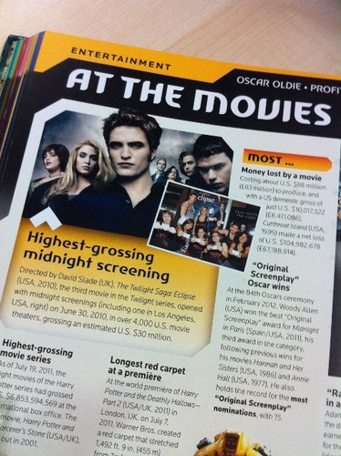 Twilight: Eclipse in The гиннес, guinness, гиннесса Book of World Records - 2013