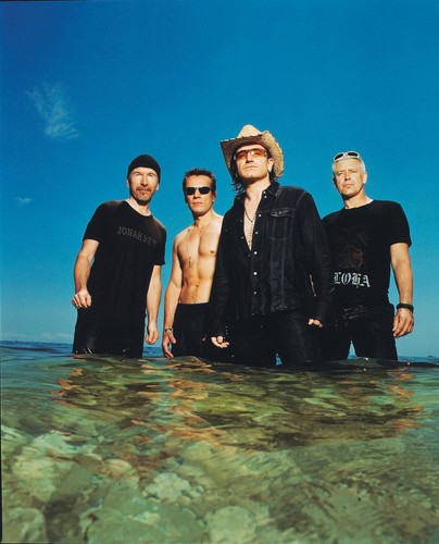 U2 wallpaper probably with a bather and a water entitled U2