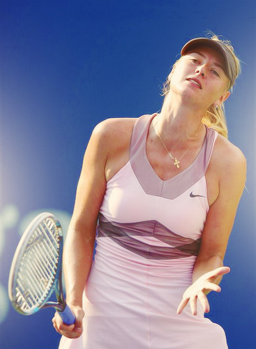 Maria Sharapova wallpaper with a tennis racket, a tennis player, and a tennis pro entitled US Open 2012