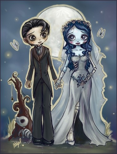 Corpse Bride wallpaper probably containing anime entitled Victor & Emily