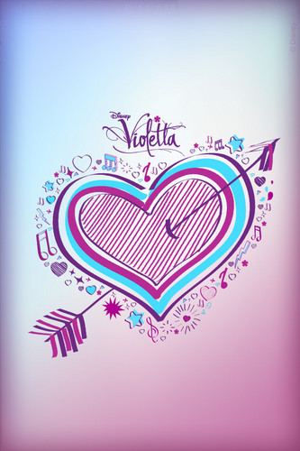 Violetta wallpaper probably containing a sign titled Violetta Heart iPod Wallpaper