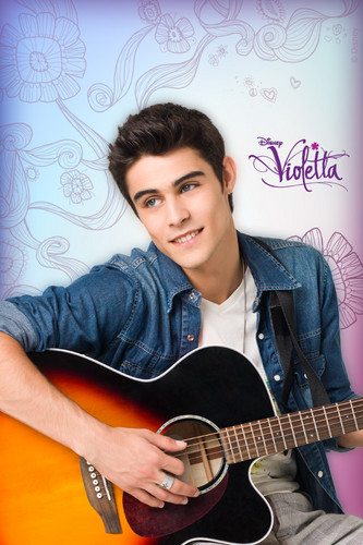 Violetta wallpaper containing an acoustic guitar titled Tomás iPod Wallpaper