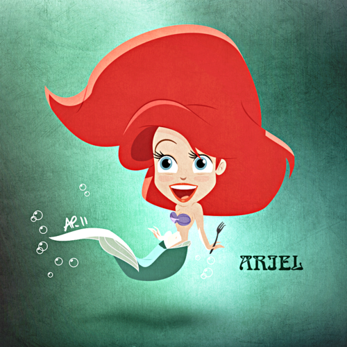 Walt 迪士尼 粉丝 Art - Princess Ariel