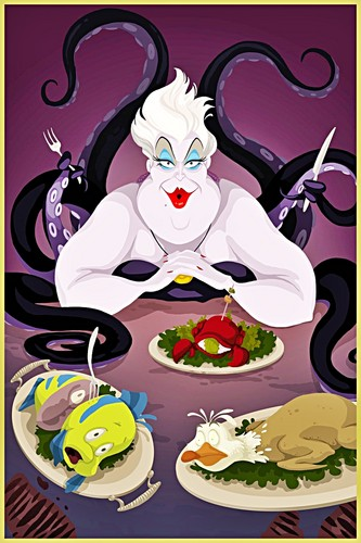 Walt Disney Fan Art - Ursula's Dinner