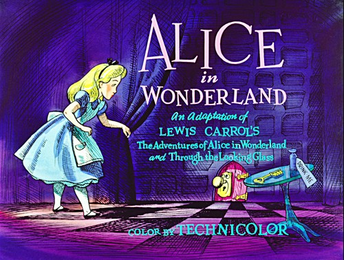 Walt Дисней Screencaps - Alice In Wonderland Название Card