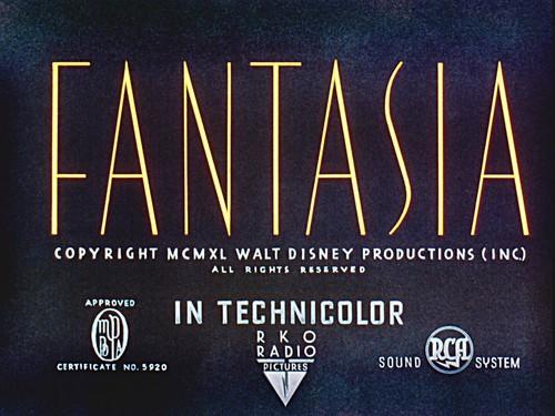 Walt 디즈니 Screencaps - Fantasia 제목 Card
