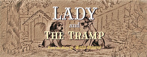 Walt disney Screencaps - Lady and the Tramp título Card