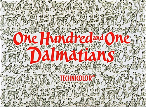 Walt Disney Screencaps - One Hundred and One Dalmatians Title Card