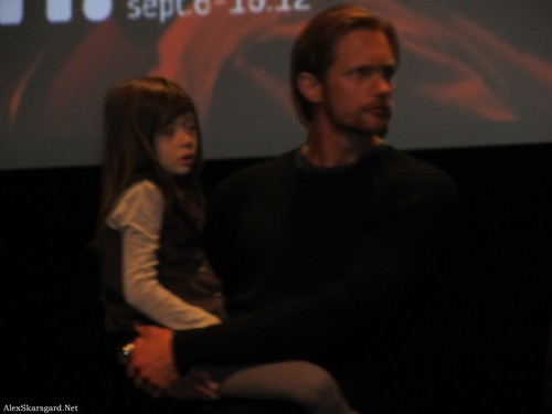 Alexander Skarsgård wallpaper containing a sign titled What Maisie Knew Q&A at TIFF