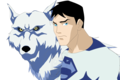 Wolf and Superboy (Polar Stealth) - young-justice fan art