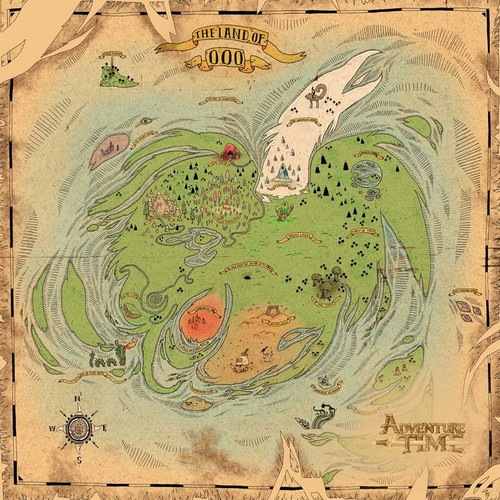 a map of the land of Ooo