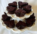 dark chocolate heart cupcakes - chocolate photo