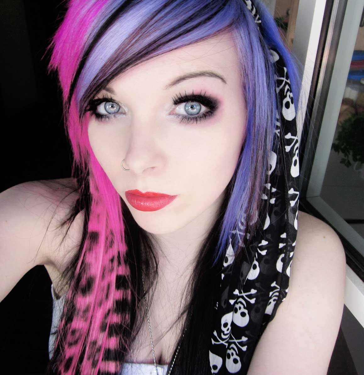 Emo Imagens Emo Girl Ira Vampira Scene Queen Colorful Hair