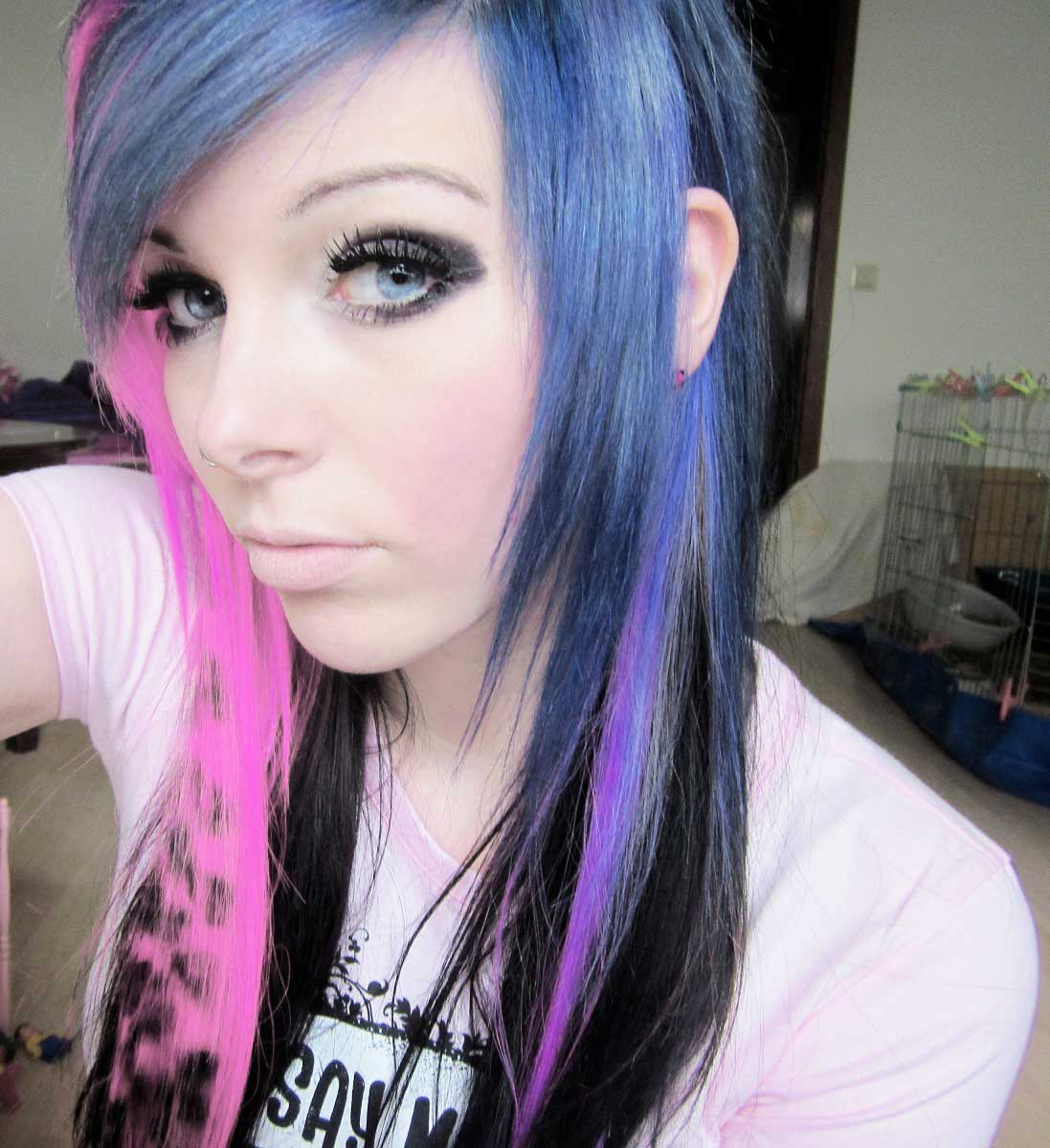 girl with purple scene hair pictures to pin on pinterest
