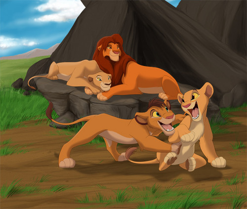 The Lion King 2:Simba's Pride wallpaper titled happy family
