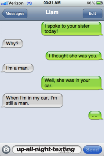 imagine getting this text from liam