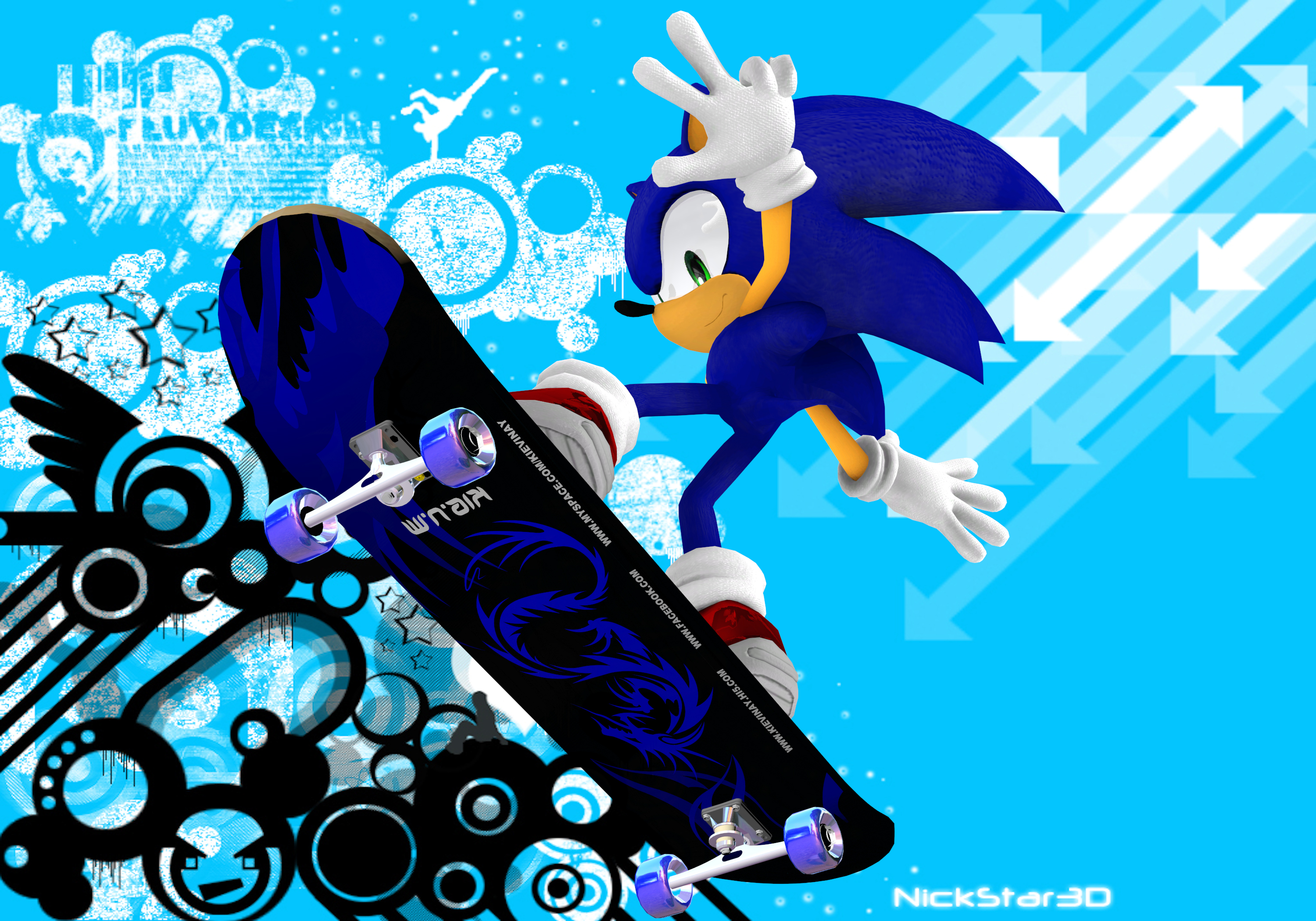 Stay Cool With Sonic And Shadow Images Modern Skating Hd Wallpaper