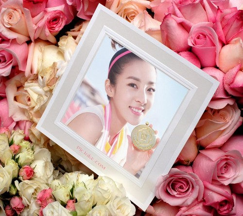 DARA 2NE1 Hintergrund with a bouquet called pnk rose bb cream dara