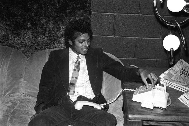 Rare Michael Calling Someone The Thriller Era Photo