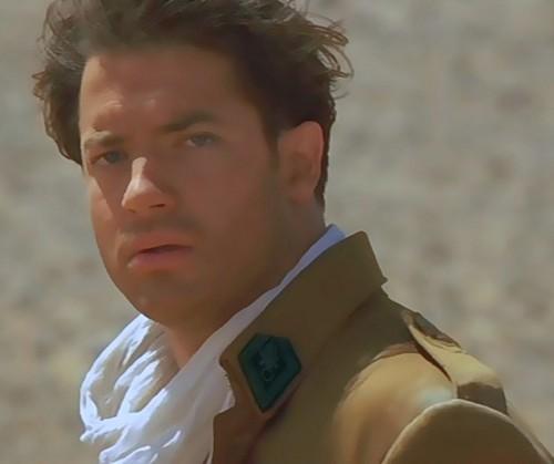 The Mummy Filme Hintergrund with a green beret, uniform, regimentals, kampfanzug, schlachtkleid, and schlacht-kleid titled rick o'connell