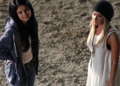 selena and ashley on set of getaway - ashley-tisdale photo