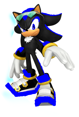 shade the hedgehog sonic free riders