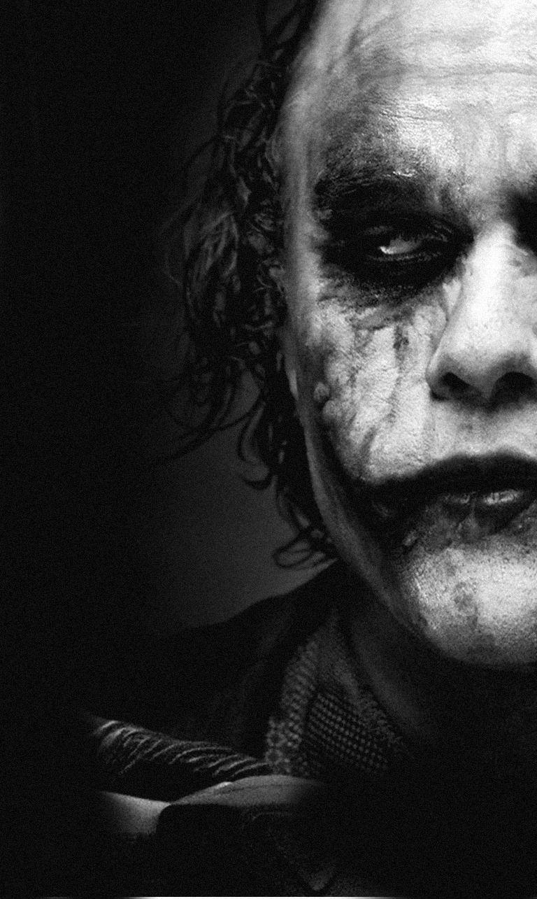 Black Joker Pic Black And White Photography Three Column