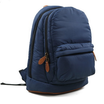 urban-style leather and nylon backpack