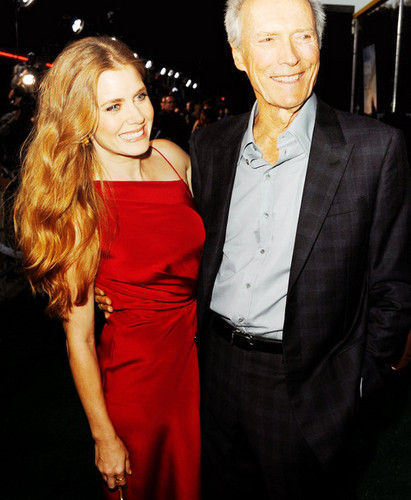 Clint Eastwood wallpaper containing a business suit and a dress suit titled ☆ Clint Eastwood & Amy Adams ☆