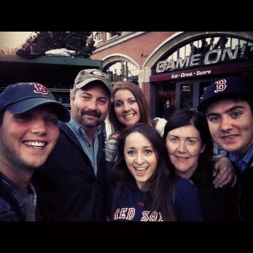 'The Gang' at Fenway Park in Boston