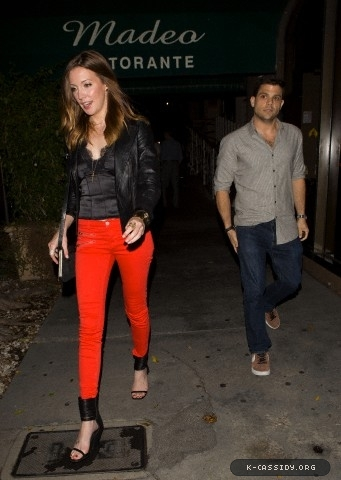 09.10 - Leaving Madeo Restaurant in West Hollywood, CA