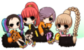 2ne1 cute cartoon  - dara-2ne1 fan art