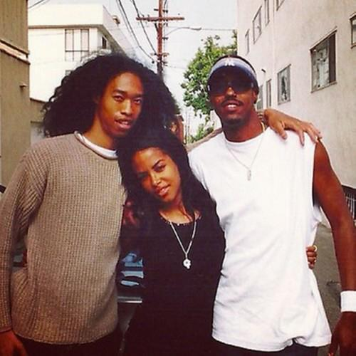 Aaliyah with Derek Lee and his brother *RARE*