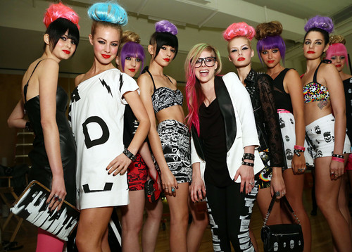Abbey Dawn at New York Fashion Week - Backstage (10 Sep 2012)