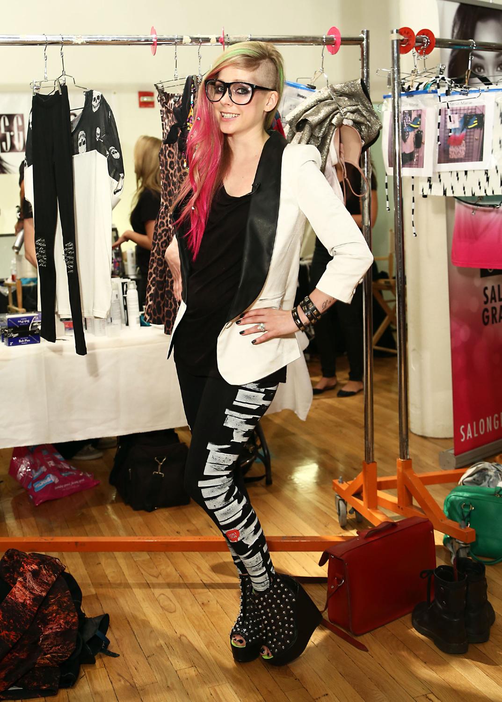 Abbey Dawn at New York Fashion Week - Backstage (10 Sep 2012)