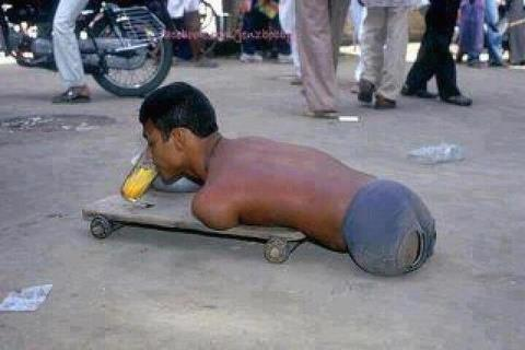 Alhamdullillah, Allah provided him with a skateboard.