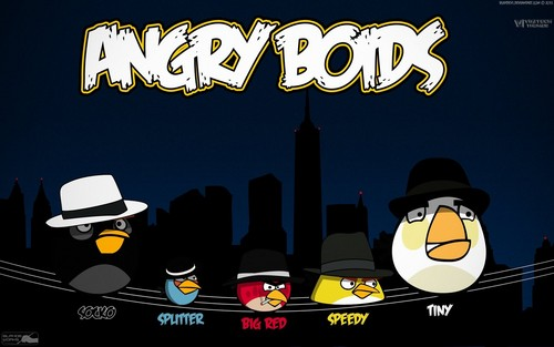 angry birds wallpaper possibly with a sign entitled Angry Boids
