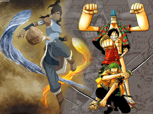 Avatar: The Legend of Korra wallpaper possibly with anime called Avatar: The Legend of Korra & one piece