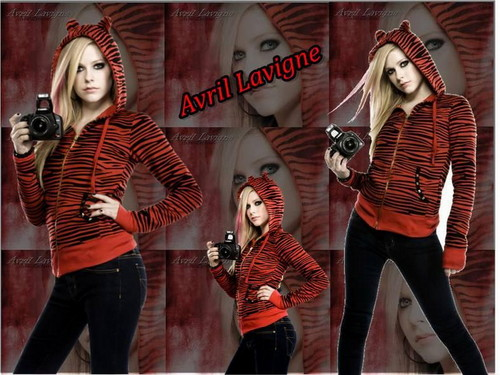 Avril Lavigne wallpaper possibly with a hip boot, an outerwear, and long trousers entitled Avril Lavigne