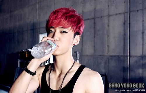 Bang Yong Guk wallpaper possibly containing a bottled water called Bang Yong Guk