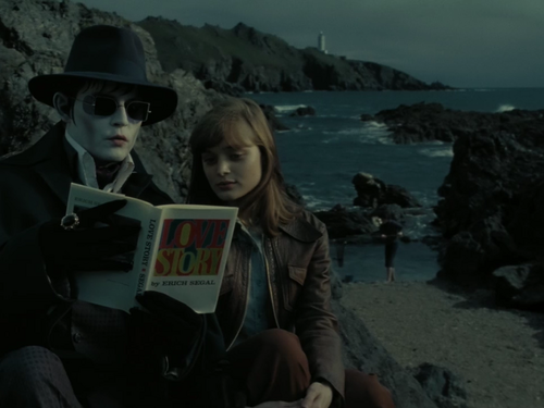 Tim Burton's Dark Shadows 바탕화면 probably with a sign called Barnabas and Victoria