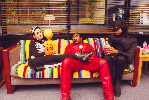 Community wallpaper containing a living room, a family room, and a dipan, sofa titled Behind the scenes - Community 1x07