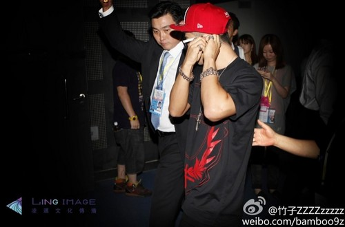 Big Bang backstage at Tokyo Girls Collection in Shanghai