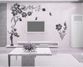 Branches Flower With Butterfly Wall Stickers
