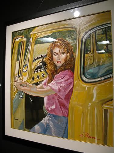 Brooke Shields portrait hanging at Neverland