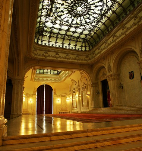 Bucharest Romania People's Palace interior Rumänien