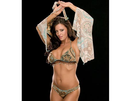 Candice Michelle achtergrond possibly with a bikini and a brassiere titled Candice Michelle Photoshoot Flashback