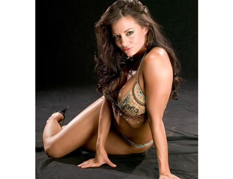 Candice Michelle پیپر وال possibly with attractiveness and a bikini entitled Candice Michelle Photoshoot Flashback