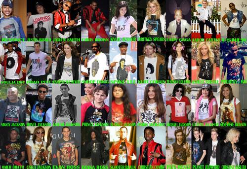 người nổi tiếng Rocking Michael Jackson áo sơ mi
